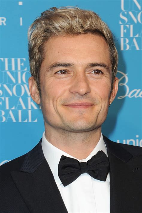 orlando bloom orlando bloom s blond ambition at the unicef snowflake