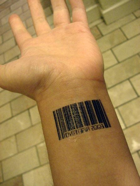 bar tattoos bar code tattoos