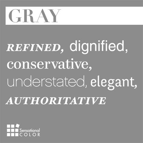 what does the color gray words that describe gray sensational color