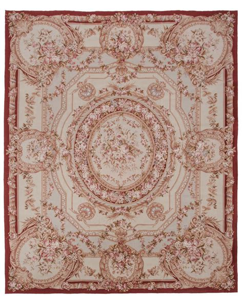 Needle Point Rug by Rra 8x10 Needlepoint Aubusson Design Beige Rug