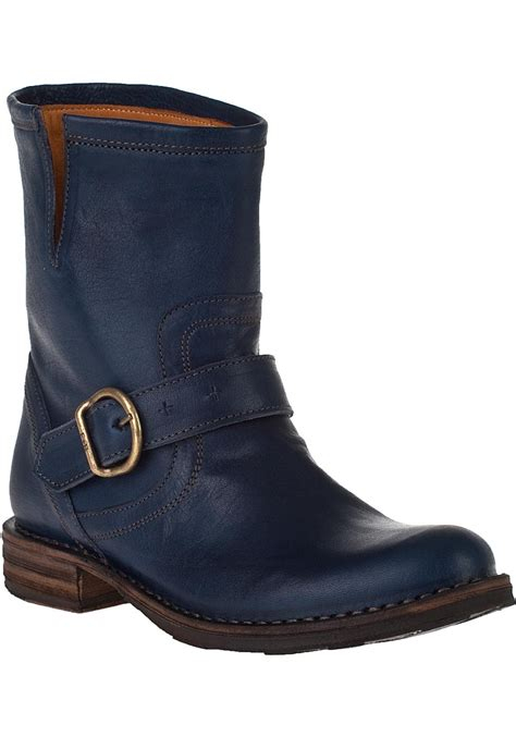 blue leather boots fiorentini baker eternity eli ankle boot blue moon