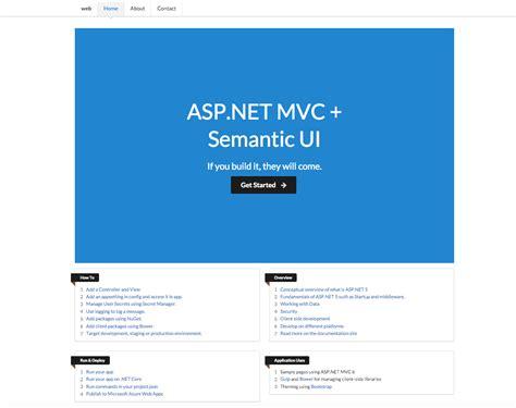 Shayne Boyer Yo Aspnet Ui Options Coming Soon Asp Net Ui Design Templates