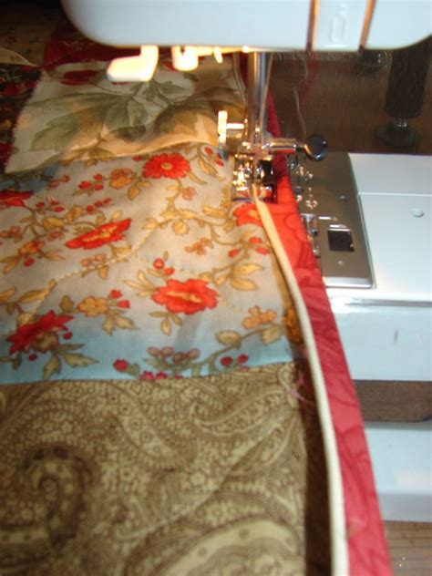 Applying Quilt Binding by Machine Binding With Flange