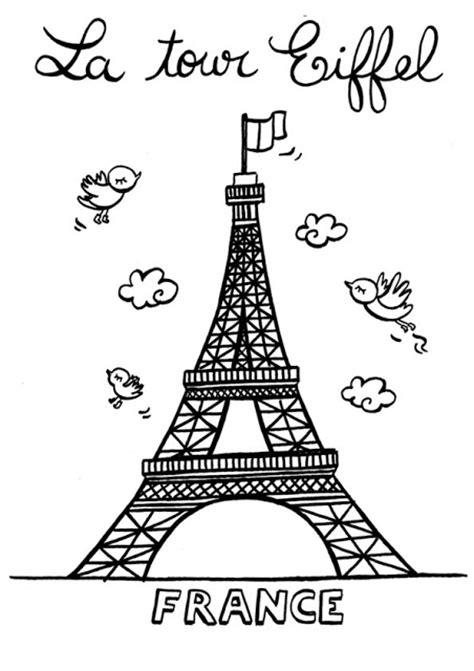 Cp Efel imagen de la torre eiffel para dibujar imagui