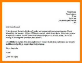 Resignation Letter Uk by 7 Exle Of Resignation Letter Uk Emt Resume