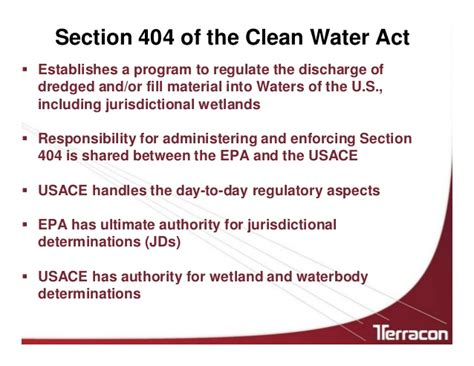section 404 cwa the new clean water rule facts implications pitfalls