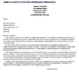 experienced paralegal cover letter 1000 images about paralegal career on