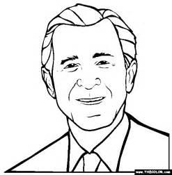 George W Bush Coloring Page george w bush coloring page free george w bush