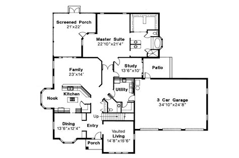 Mediterranean House Floor Plans by Mediterranean House Plans Amherst 11 030 Associated