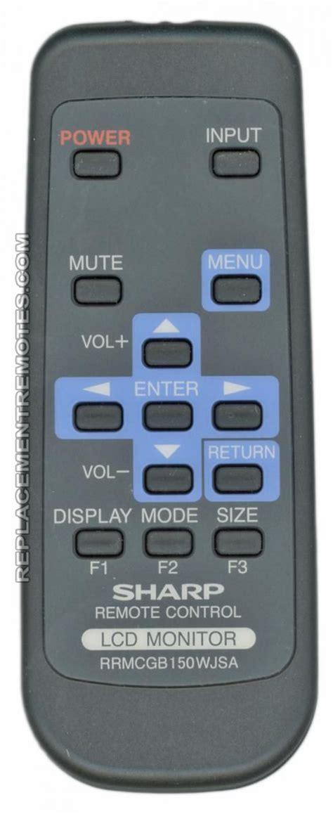 buy sharp rrmcgbwjsa monitor remote control