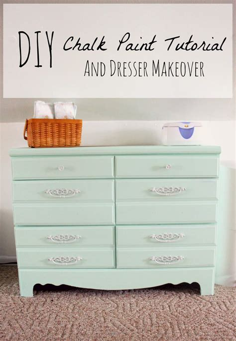 diy green chalk paint diy chalk paint recipe and dresser makeover the definery co
