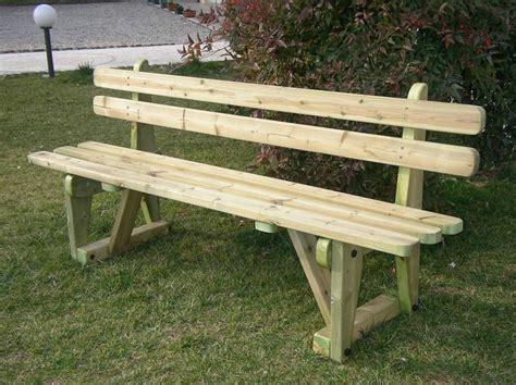 panchina in legno panchina in legno in tavullia dal negozio on line esterni