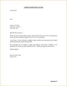 Job rejection letter sample 4667541 6 job rejection letter sample