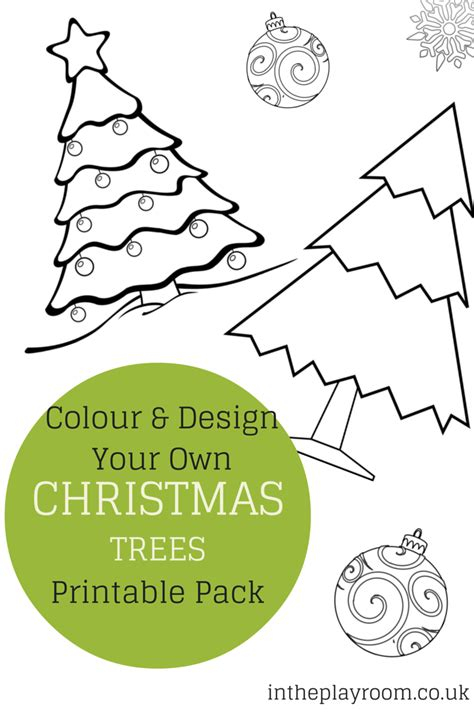 decorate your own christmas tree worksheet colour and design your own tree printables in the playroom