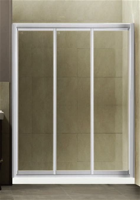 Shower Enclosures Sliding Shower Doors Three Panel Shower Door
