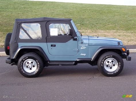 jeep gray color 1997 gunmetal pearl jeep wrangler sport 4x4 40962050