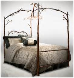 Wrought Iron Canopy Bed Fantastically Wrought Iron Bedroom Furniture