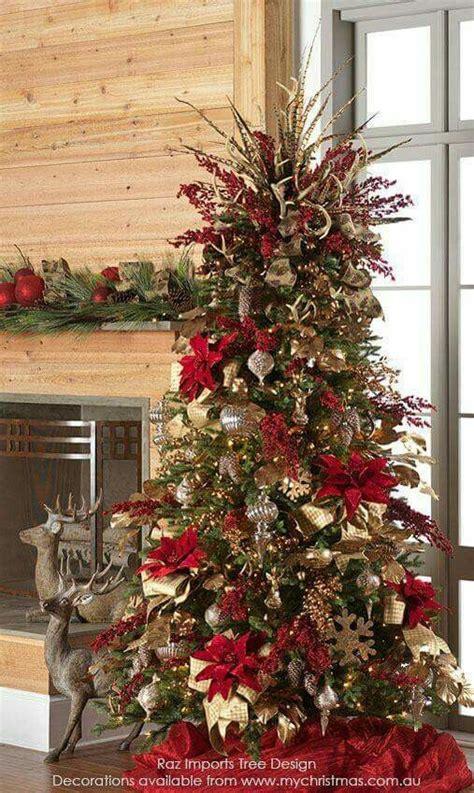 decoracion rojo y dorado 193 rboles de navidad decorados en rojo y dorado tendencias
