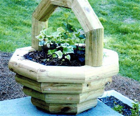 Landscape Timber Basket Planter Plans Free 45 00 Each Or 80 00 For 2 Or More Treated Pine