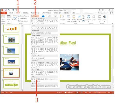 tips membuat powerpoint untuk seminar cara membuat shape dan kotak teks text box di powerpoint