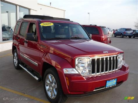 red jeep liberty 2009 2009 inferno red crystal pearl jeep liberty limited 4x4