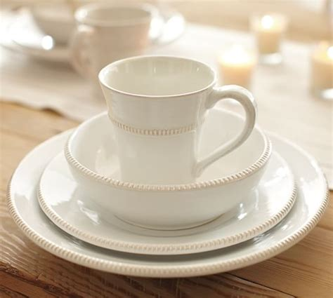 pottery barn china gabriella 16 piece dinnerware set pottery barn