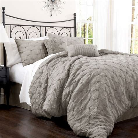 beautiful grey comforter plum and grey bedroom