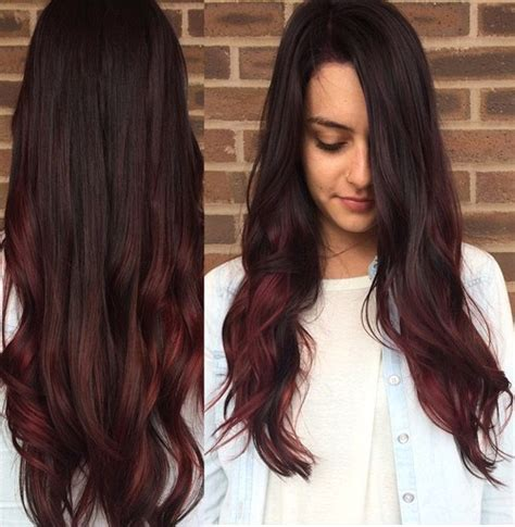 cute burgundy highlights 20 cute fall hair colors and highlights ideas