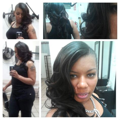 more stylists sharing photos of braid and weave work on half braids half sewn weave layered and curled yelp