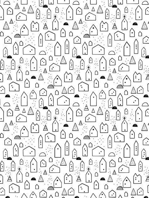 free printable wrapping paper black and white free download little house wrapping paper scandinavian