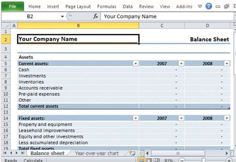Download Editable Sle Balance Sheet For Excel Editable Balance Sheet Template