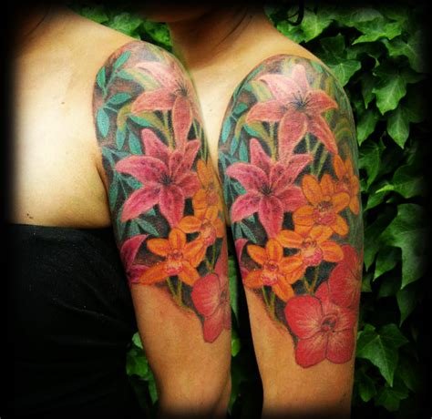 floral half sleeve tattoos for women women fashion and