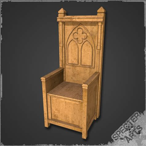 Wooden Kitchen Bench Seat 3ds Max Medieval Throne
