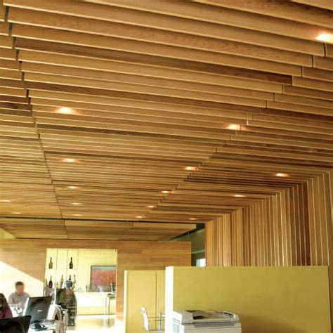 Wood Grid Ceiling by Acoustic Suspended Ceiling Wood Curved Linear