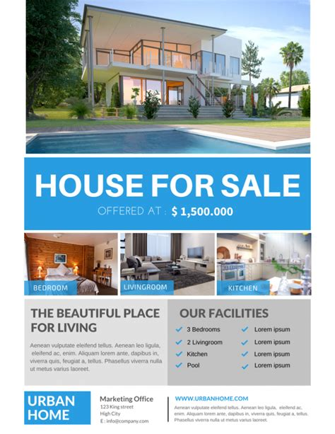 house of real estate the best real estate flyer for all realty companies