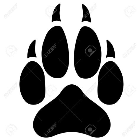 Wolf Paw Print Silhouette Google Search Shapes Line Pinterest Huellas De Animales Paw Print Silhouette