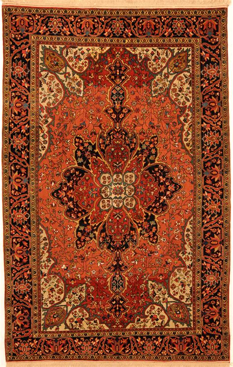 Persin Rugs by Orange 4 X 6 Sarouk Rug Knotted Rug Ebay