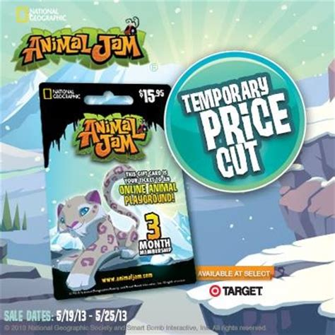 Www Animaljam Com Gift Card - www mylearnbuddy com animal jam tomorrow is the last day to get 3 off animal jam snow