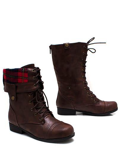 Burgundy Duvet Gj Lace Up Leather Combat Boots 41 60 In Black Burgundy