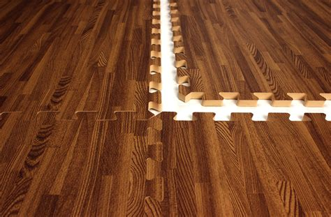 interlocking foam mats that look like wood great for a