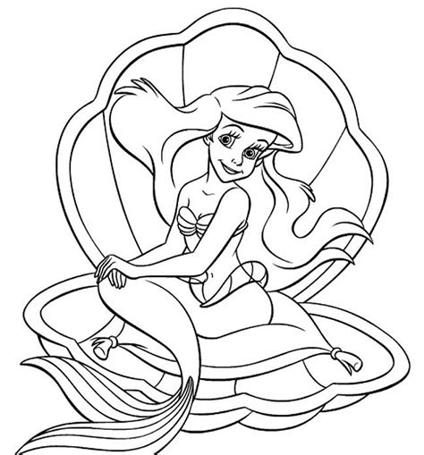 coloring page baby ariel princess ariel coloring pages jacb me