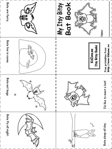 bat pattern for kindergarten bat activity sheets itsy bitsy bat book halloween