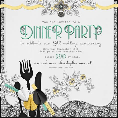 design an invitation card for dinner party dinner party invitation wording theruntime com