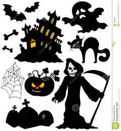 halloween schattenbilder lizenzfreie stockfotografie bild 10983697