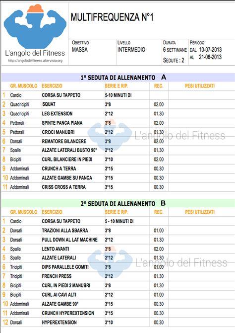 alimentazione per massa muscolare scheda scheda di allenamento massa in multifrequenza n 176 1 l