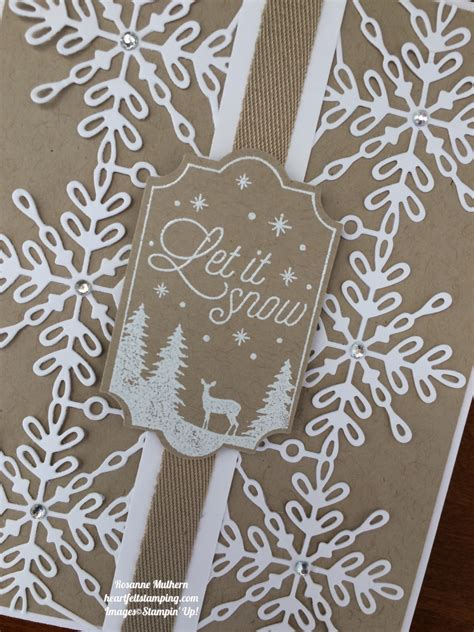 stampin  swirly snowflakes  merry  labels christmas card ideas rosanne mulhern