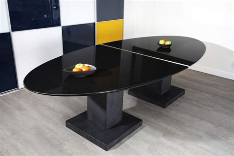 Black Granite Dining Table By Michael Prentice Black Granite Dining Table