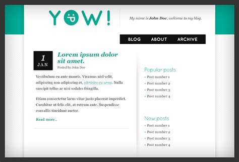 layout for my blog yow blog layout on behance
