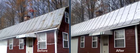 haggetts newly painted building haggetts aluminum metal roof painting contractor indianapolis indiana