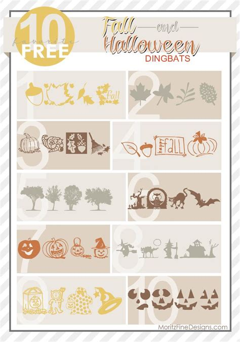 free printable fonts for crafts use these fall halloween dingbat free fonts for